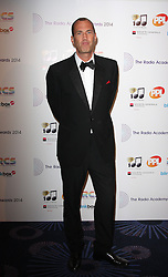 JOHNNY VAUGHAN arrives for the Radio Academy Awards, London, United Kingdom. Monday, 12th May 2014. Picture by i-Images