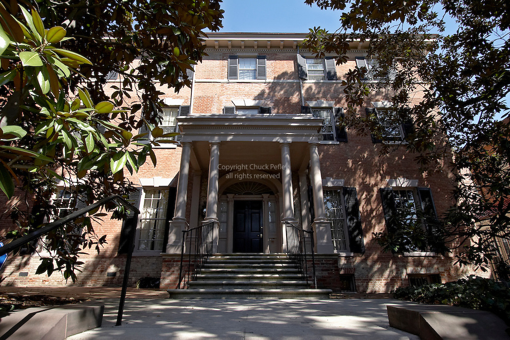 Thomas Beall House number 3017 N Street was built in 1794 and has since been lived in by the Secretary of War during the First World War and by Jackie Kennedy after President JF Kennedy's assassination in the Georgetown area of Washington DC, USA<br />