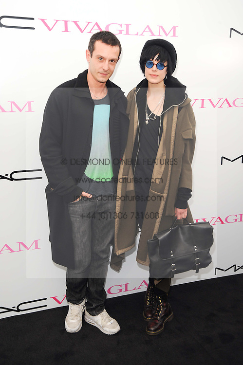 Agyness Deyn and JONATHAN SAUNDERS  at the MAC VIVA GLAM discussion hosted by Sharon Osbourne to promote MAC's latest fundraising range with all proceeds donated to HIV/AIDs charities via the MAC AIDS Fund, at Il Bottaccio, 9 Grosvenor Place, London on 1st March 2010.
