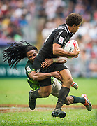 New Zealand vs South Africa during their HSBC Wold Rugby Sevens Series Cup Semi Final match as part of the Cathay Pacific / HSBC Hong Kong Sevens at the Hong Kong Stadium on 10 April 2016 in Hong Kong, China. Photo by Mike Pickles / Future Project Group