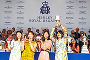 Henley on Thames, England, United Kingdom, 7th July 2019, Henley Royal Regatta, Prize Giving, The Princess Grace Challenge Cup, Chinese National Rowing Team, China[© Peter SPURRIER/Intersport Image]<br /> <br /> 17:36:01 1919 - 2019, Royal Henley Peace Regatta Centenary,