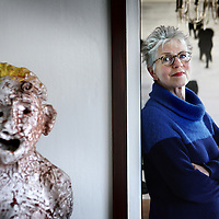 Nederland, Amsterdam , 13 februari 2015.<br /> Anna Tilroe, kunstcritica is nu artistiek leider van 11 Fountains, het project om 11 fonteinen in de elf steden neer te zetten.<br /> <br /> Foto:Jean-Pierre Jans