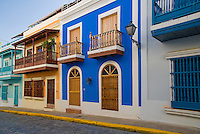 Colonial houses of San Justo street