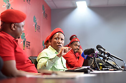South Africa: Gauteng: Economic Freedom Fighters (EFF) leader Julius Malema addresses members of the media during a press conference in Braamfontein, Johannesburg.<br />Picture: Itumeleng English/African News Agency (ANA)