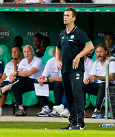 01/07/15 PRE-SEASON FRIENDLY MATCH<br /> CELTIC V DEN BOSCH<br /> ST MIRREN PARK - PAISLEY<br /> Celtic manager Ronny Deila in the dugout.