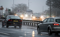 © Licensed to London News Pictures. 20/12/2019. London, UK. Traffic battles through heavy rain and wet conditions on the A1 at Edgware in North London. Large parts of the UK are experiencing difficult driving conditions ahead of the Christmas getaway which starts today. Photo credit: Ben Cawthra/LNP