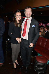 WOODY WEBSTER and CHARLOTTE VERNEY at a party in aid of the Youth at Risk charity held at Raffles, 287 King's Road, London on 27th November 2013.
