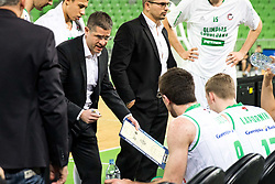 Aleksandar Saso Nikitovic, coach of Petrol Olimpija during 2nd leg basketball match between KK Petrol Olimpija and KK Rogaska in quarter final of  Pokal SPAR 2018/19, on January 14, 2019 in Arena Stozice, Ljubljana, Slovenia. Photo by Matic Ritonja / Sportida