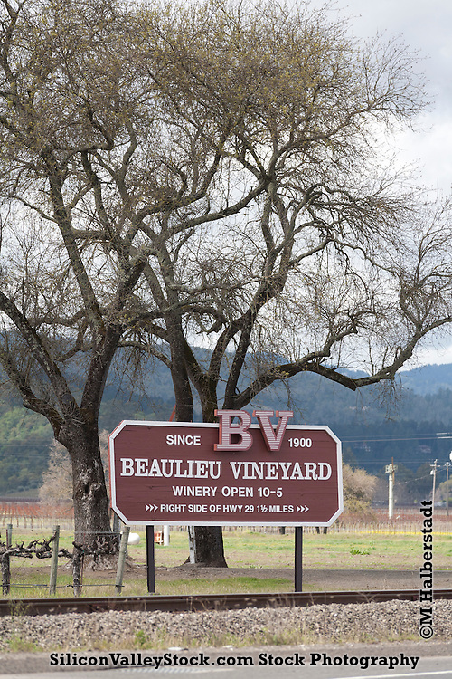 Beaulieu Vineyard Sign, Napa Valley, CA