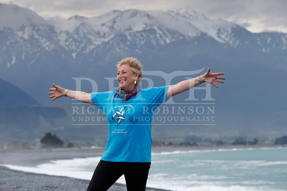 Nicky McArthur from the Hutton&rsquo;s Shearwater Charitable Trust in Kaikoura, New Zealand.  <br /> Sunday 02 October 2016<br /> Photograph Richard Robinson &copy; 2016