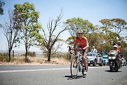Kristabel Doebel-Hickok (USA) on her way to a third place finish at Santos Women's Tour Down Under 2019 - Stage 2, a 116.7 km road race from Nuriootpa to Angaston, Australia on January 11, 2019. Photo by Sean Robinson/velofocus.com