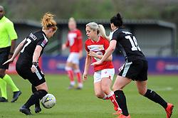 Poppy Pattinson of Bristol City challenges Rachel Furness of Reading Women- Mandatory by-line: Nizaam Jones/JMP- 31/03/2019 - FOOTBALL - Stoke Gifford Stadium - Bristol, England - Bristol City Women v Reading Women - FA Women's Super League 1