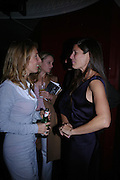Sam Taylor Wood and Elizabeth Saltzman. Billy Elliot- The Musical opening night at the Victoria palace theatre and party afterwards at Pacha, London. 12 May 2005. ONE TIME USE ONLY - DO NOT ARCHIVE  © Copyright Photograph by Dafydd Jones 66 Stockwell Park Rd. London SW9 0DA Tel 020 7733 0108 www.dafjones.com