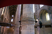 pillar and vaulted ceiling of the church Les Jacobins Toulouse
