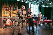 ROTTERDAM, THE NETHERLANDS. 2017, AUGUST 29. Ron Brandsteder and Jacques Herb at the press conference of De Oase Bar geeft een Feestje at Walhalla.