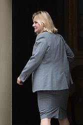 Downing Street, London, August 2nd 2016. Education Secretary Justine Greening arrives at Downing Street for the Economic and Industrial Strategy Committee meeting. The committee is comprised of eleven cabinet ministers and has been set up by Prime Minister Theresa May to ensure that Britain is in the best position to successfully leave the European Union.