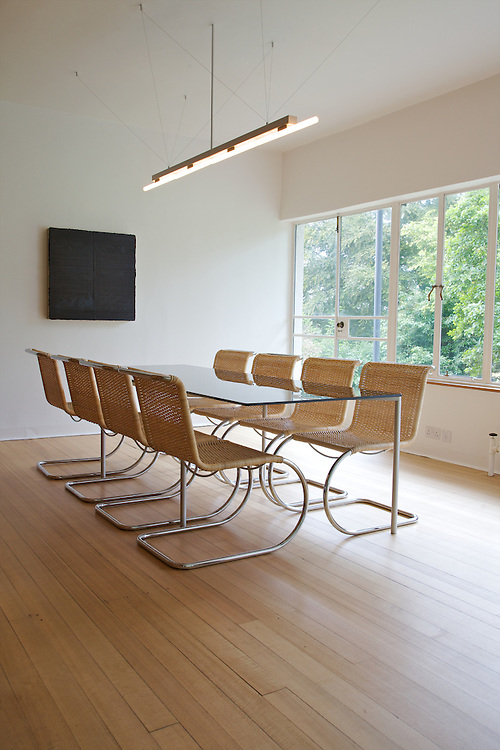 The dining room at Warren House, Wayne McGregor's Dartington Estate home in Devon<br /> Vanessa Berberian for The Wall Street Journal
