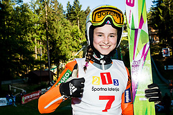 Nika Kriznar during Ski jumping Summer cup - 45. Revija skokov Mostec on June 4, 2016 in Mostec hill, Ljubljana, Slovenia.Photo by Vid Ponikvar / Sportida