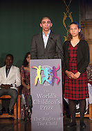 The World&rsquo;s Children&rsquo;s Prize Ceremony 2015 at Gripsholms Castle in Mariefred, Sweden. Hamoodi Elsalameen from Palestine and Netta Alexandri from Israel.Photo: Sofia Marcetic/World's Children's Prize<br /> <br /> Since the year 2000, the World&rsquo;s Children&rsquo;s Prize program has educated and empowered over 38 million children. It&rsquo;s the world&rsquo;s largest annual educational initiative for equality, the rights of the child and democracy. The program is run annually in schools worldwide. Each year, three out&not;standing child rights heroes are selected by the Child Jury as candidates for the World&rsquo;s Children&rsquo;s Prize for the Rights of the Child.  The three candidates are then presented to the world&rsquo;s children through  the WCP magazine The Globe, video, web and social media. Tens of thousands of volunteers and organisations help to implement the WCP program every year, including at least 50,000 teachers and over a hundred organisations, social enterprises and departments of education. Over 67,000 schools in 113 countries have signed up for the WCP.<br />     The WCP program concludes with an annual Global Vote in which millions of children vote to elect their child rights hero of the Year. The majority of children who participate are vulnerable, such as former child soldiers and child slaves. Three global legends have got behind the WCP as patrons: Nelson Mandela, Aung San Suu Kyi, and Xanana Gusm&atilde;o. Other patrons include H.M. Queen Silvia of Sweden, Gra&ccedil;a Machel and Desmond Tutu.<br />    The WCP program was founded in the year 2000 and is run by Swedish non-profit the World&rsquo;s Children&rsquo;s Prize Foundation (WCPF). The WCPF receives funding from several bodies including the Swedish Postcode Lottery, Sida (the Swedish International Development Cooperation Agency), H.M. Queen Silvia&rsquo;s Care About the Children Foundation, the Surv&eacute; Family Foundation, Giving Wings, Futura Foundations and eWork. The WCPF received the highest possible rating in the annual review of non-profit organisatio