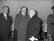 19/05/1959<br /> 05/19/1959<br /> 19 May 1959<br /> Opening of Foras Taluntais premises at 33 Merrion Road, Dublin. Pictured at the opening are (l-r): Mr P. Smith, Minister for Agriculture; An Taoiseach,Eamon de Valera and President Sean T. O'Kelly who performed the opening ceremony.