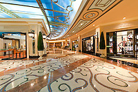 Interior of a modern very luxury shopping mall.