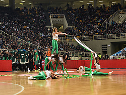 December 19, 2017 - Athens, Greece - Panathinaikos cheerleaders perform during the Euroleague basketball game between Panathinaikos Superfoods Athens and Maccabi Fox Tel Aviv in Athens, Greece, 19 December 2017. (Credit Image: © Dimitris Lampropoulos/NurPhoto via ZUMA Press)