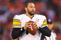 Dec 19, 2011; San Francisco, CA, USA; Pittsburgh Steelers quarterback Charlie Batch (16) warms up before the game against the San Francisco 49ers at Candlestick Park. San Francisco defeated Pittsburgh 20-3. Mandatory Credit: Jason O. Watson-US PRESSWIRE
