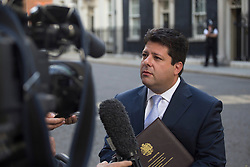 © licensed to London News Pictures. London, UK 30/08/2013. Gibraltar chief minister Fabian Picardo talking to media on Downing Street after meeting with Prime Minister on Friday, 30 August 2013. Photo credit: Tolga Akmen/LNP