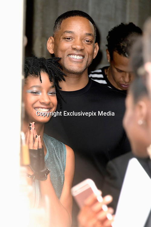 Willow Smith - Will Smith leaving the show hidden behind the door of the Grand Palais - Chanel Show - Paris Fashion Week Haute Couture 2016/2017 -<br /> &copy;Exclusivepix Media
