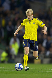 DUBLIN, REPUBLIC OF IRELAND - Wednesday, May 25, 2011: Scotland's Steven Naismith in action against Wales during the Carling Nations Cup match at the Aviva Stadium (Lansdowne Road). (Photo by David Rawcliffe/Propaganda)