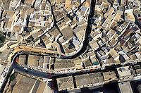 Italie - Sicile - Noto, ville baroque - Vue aérienne