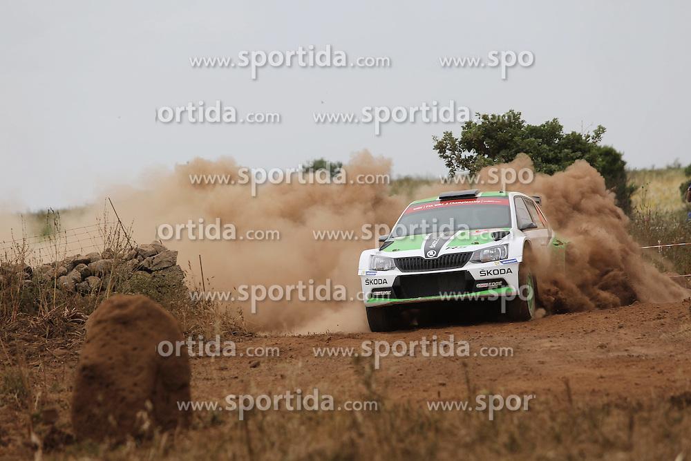 12.06.2015, Putifigari, Alghero, ITA, FIA, WRC, Rally Italia Sardegna 2015, Tag 1, im Bild Esapekka Lappi/Janne Ferm (Skoda Motorsport/Skoda Fabia R5) // during day one of FIA WRC Rallye Italia Sardegna 2015 at Putifigari in Alghero, Italy on 2015/06/12. EXPA Pictures &copy; 2015, PhotoCredit: EXPA/ Eibner-Pressefoto/ Bermel<br /> <br /> *****ATTENTION - OUT of GER*****