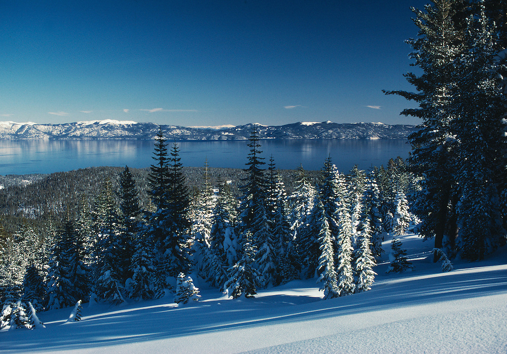 Lake Tahoe Landscape, Lake Tahoe Clear Water Winter