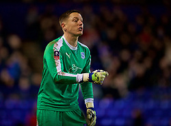 BIRKENHEAD, ENGLAND - Friday, January 4, 2019: Tranmere Rovers' goalkeeper Scott Davies during the FA Cup 3rd Round match between Tranmere Rovers FC and Tottenham Hotspur FC at Prenton Park. (Pic by David Rawcliffe/Propaganda)
