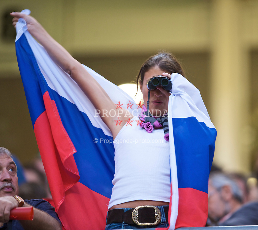 CARDIFF, WALES - Wednesday, September 9, 2009: Russia female supporters during the FIFA World Cup Qualifying Group 3 match at the Millennium Stadium. (Photo by David Rawcliffe/Propaganda)