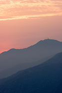 San Gabriel Mountains Sunset, California