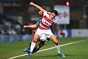 Doncaster Rovers defender Reece James (3) battles for possession during the EFL Sky Bet League 1 match between Wycombe Wanderers and Doncaster Rovers at Adams Park, High Wycombe, England on 23 November 2019.