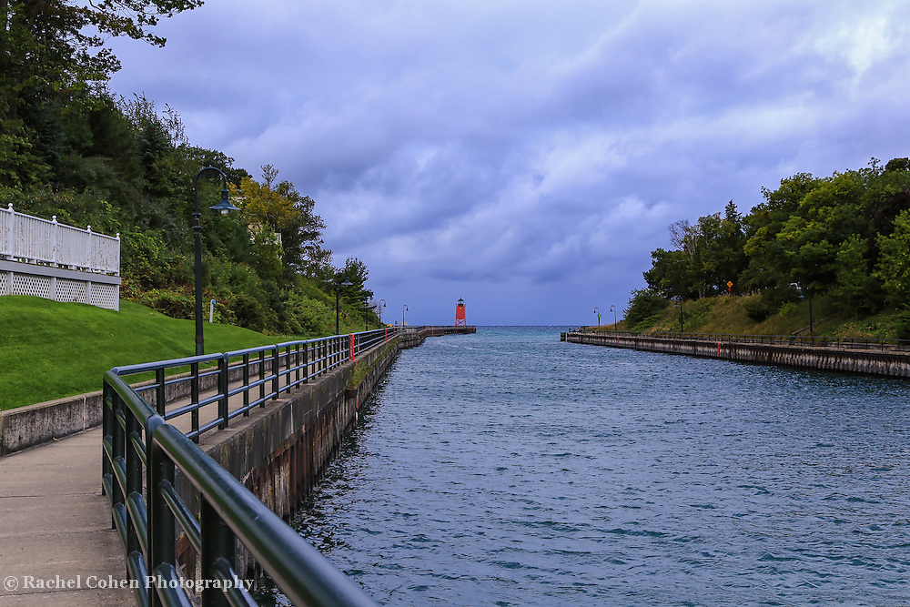 &quot;Walkway to Charlevoix Lighthouse&quot; <br />