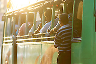 Travelling on the bus in Mangalore, India