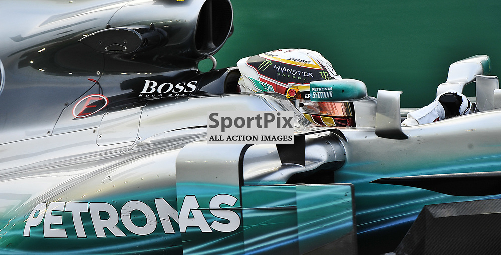 Lewis Hamilton, Mercedes AMG Petronas F1 Team.<br /> Day 2 of the 2017 Formula 1 Singapore Airlines, Singapore Grand Prix held at The Marina Bay street circuit, Singapore on the 15th September 2017.<br /> Wayne Neal | SportPix.org.uk