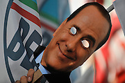 Demonstration against the judiciary and in favor of Silvio Berlusconi.