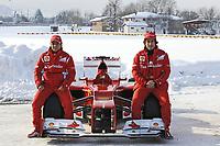 MOTORSPORT - F1 2012 - SCUDERIA FERRARI F2012 LAUNCH - FIORANO (ITA) - 03/02/2012 - PHOTO : ERCOLE COLOMBO / DPPI<br /> MASSA FELIPE (BRA) - FERRARI F2012 - AMBIANCE PORTRAIT<br /> ALONSO FERNANDO (SPA) - FERRARI F2012 - AMBIANCE PORTRAIT