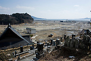 View from Jodo-ji temple over Rikuzentaka, Iwate Prefecture, Japan on 29 Feb. 2012. .Photographer: Robert Gilhooly