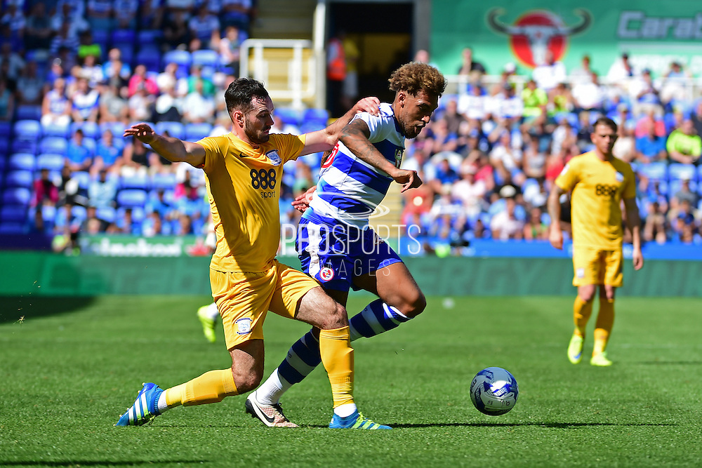 Reading midfielder Danny Williams (23) goes for goal during the EFL Sky Bet Championship match between Reading and Preston North End at the Madejski Stadium, Reading, England on 6 August 2016. Photo by Jon Bromley.