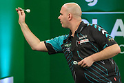 Rob Cross, during the PDC Darts Players Championship at  at Butlins Minehead, Minehead, United Kingdom on 26 November 2017. Photo by Shane Healey.