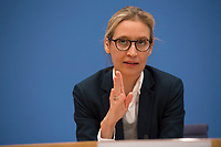 DEU, Deutschland, Germany, Berlin, 25.09.2017: Die AfD-Spitzenkandidatin Alice Weidel, Alternative für Deutschland (AfD), in der Bundespressekonferenz zu den Ergebnissen der Bundestagswahlen.