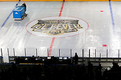 14.09.2012. Pula Arena, Pula, CRO, EBEL, KHL Medvescak Zagreb vs HDD Telemach Olimpija Ljubljana, 03. Runde, in picture preparing of ice prior to  the Erste Bank Icehockey League 3rd Round match between KHL Medvescak Zagreb and HDD Telemach Olimpija Ljubljana at the Pula Arena, Pula, Croatia on 2012/09/14. (Photo By Vid Ponikvar / Sportida)