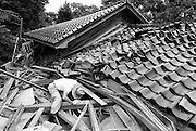 Photo shows the aftermath of the Ch?etsu Offshore Earthquake, a powerful magnitude 6.6 quake that struck  the northwest Niigata region of Japan on July 16, 2007..Photographer: Robert Gilhooly