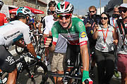 Elia Viviani (ITA - QuickStep - Floors) celebrates after winning the 73th Edition Tour of Spain, Vuelta Espana 2018, stage 10 cycling race, Salamanca - Fermoselle Bermillo de Sayago 177 km on September 4, 2018 in Spain - Photo Luis Angel Gomez / BettiniPhoto / ProSportsImages / DPPI