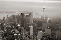 Aerial View, Downtown Toronto (Foggy)